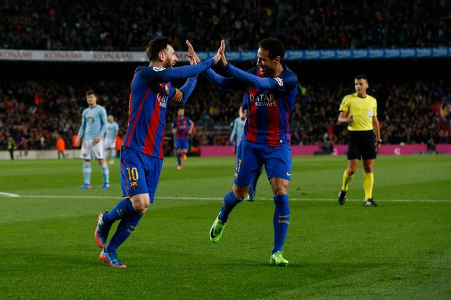 Neymar and Messi had a great partnership at Barcelona. Image: PA Images