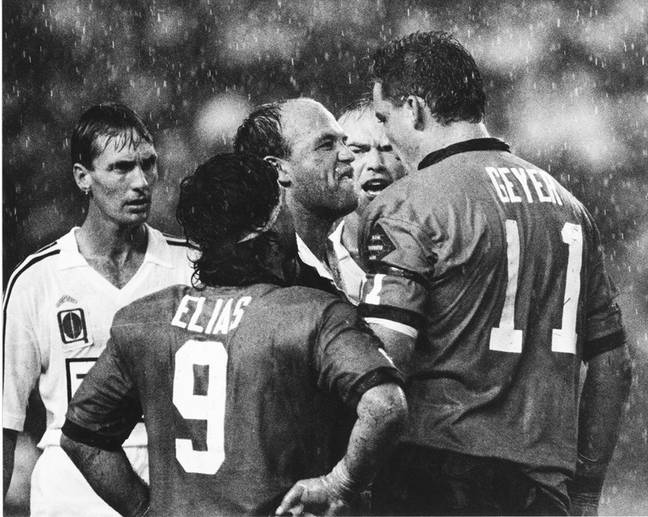 An iconic image. Credit: NRL