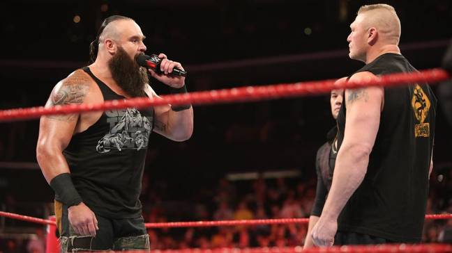 Brock Lesnar and Braun Strowman were also on Raw in North Carolina that night. Image: WWE