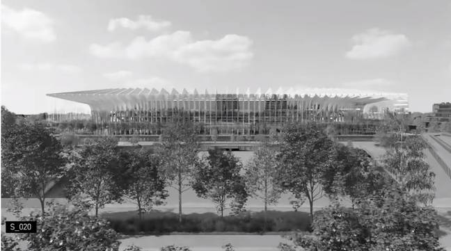 A stunning view of the exterior of the stadium. Image: YouTube