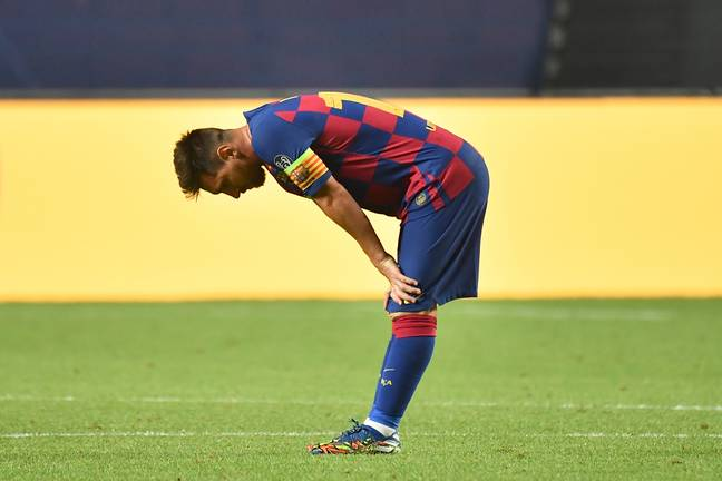 Messi at the end of the game. Image: PA Images