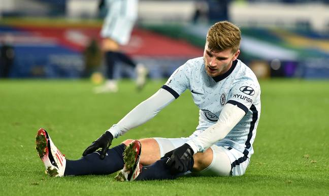 Timo Werner has cut a frustrated figure at times recently. Image: PA Images