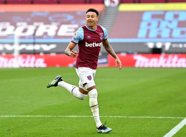 Lingard has been in brilliant form for West Ham. Image: PA Images