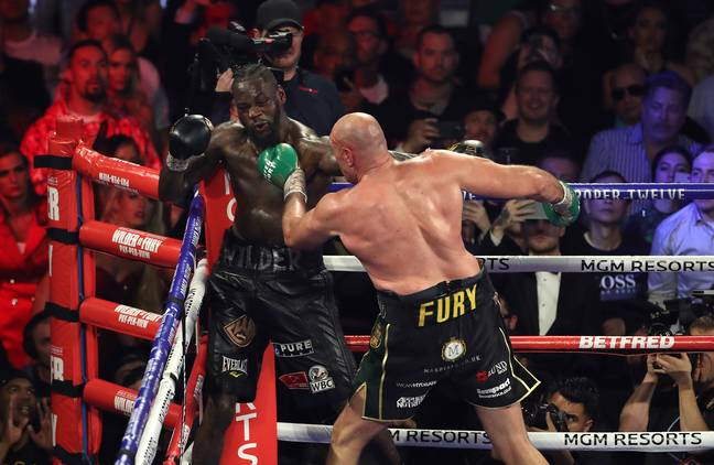 Wilder didn't look in a state to carry on. Image: PA Images