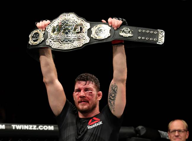 Bisping following his successful defence against Dan Henderson. Image: PA
