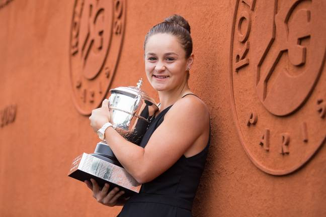 Ash Barty won her very first grand slam at the French Open in 2019. Credit: PA