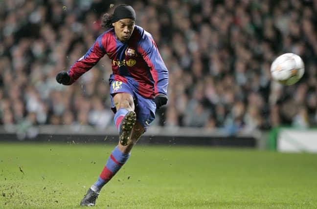Ronaldinho doing bits for Barcelona. Image: PA