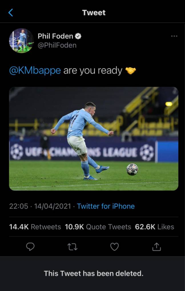 Image: Twitter/Phil Foden
