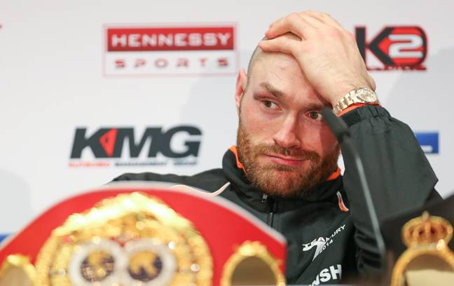 Fury's issues came after beating Klitschko for the WBA (Super), IBF, WBO, IBO, and The Ring heavyweight titles but didn't get back in the ring for another three years. Image: PA Images