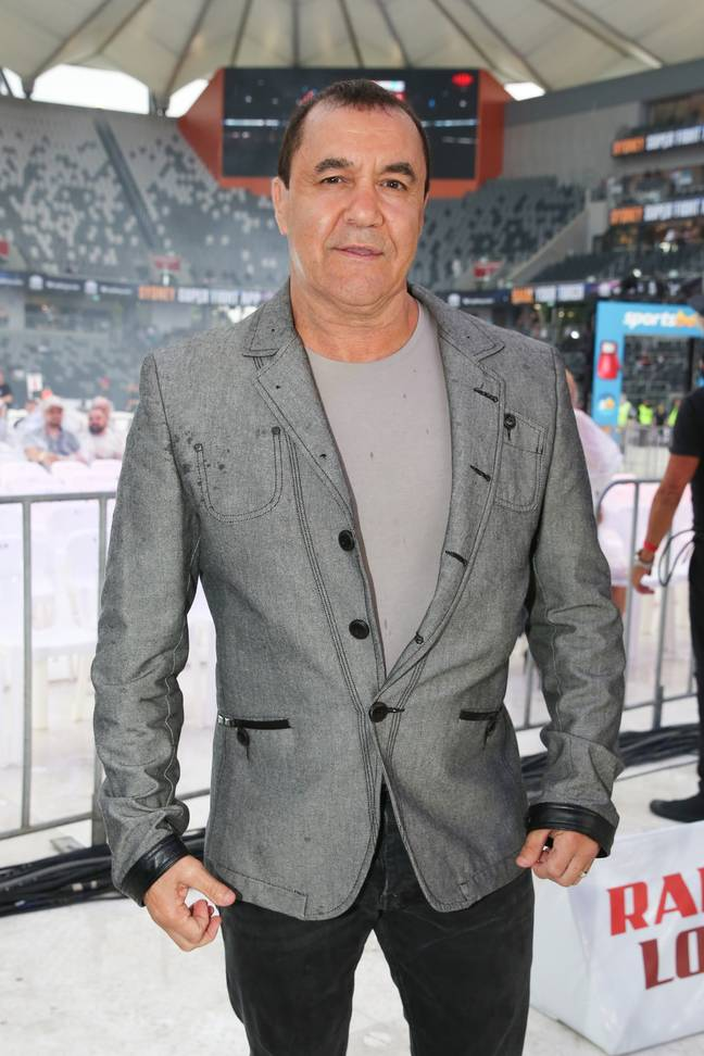 Boxing royalty Jeff Fenech was in the commentary box for the fight. Credit: PA