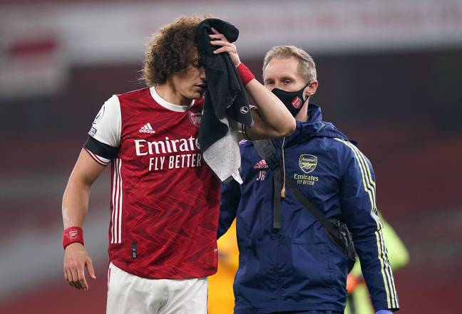 There was surprise last month when David Luiz was allowed to continue playing against Wolves. Image: PA Images