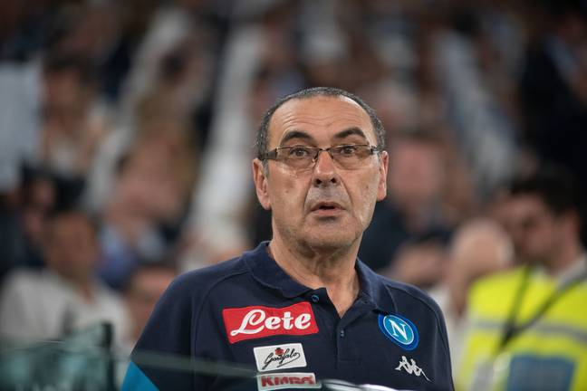 Sarri managed Juventus' rivals Napoli in their title fight with the Bianconeri. Image: PA Images