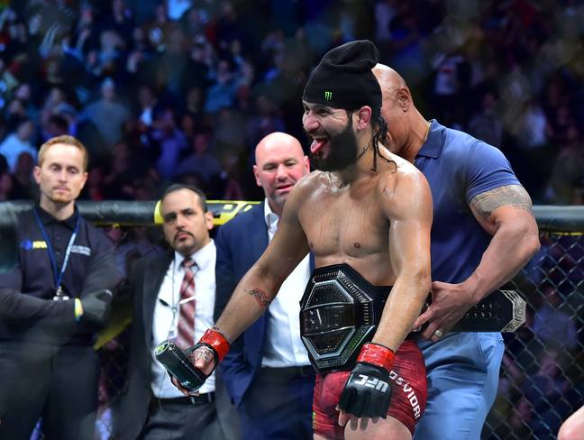 Masvidal won the BMF title over Nate Diaz. Credit: PA