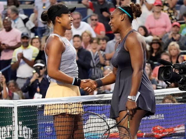 Naomi Osaka and Serena Williams. Credit: PA