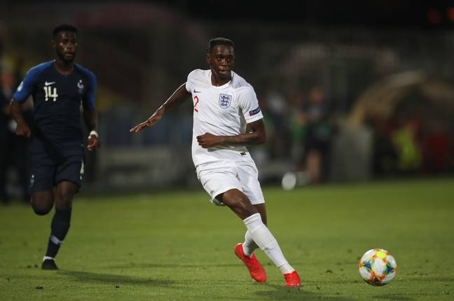 Wan-Bissaka played for England U21s this summer. Image: PA Images