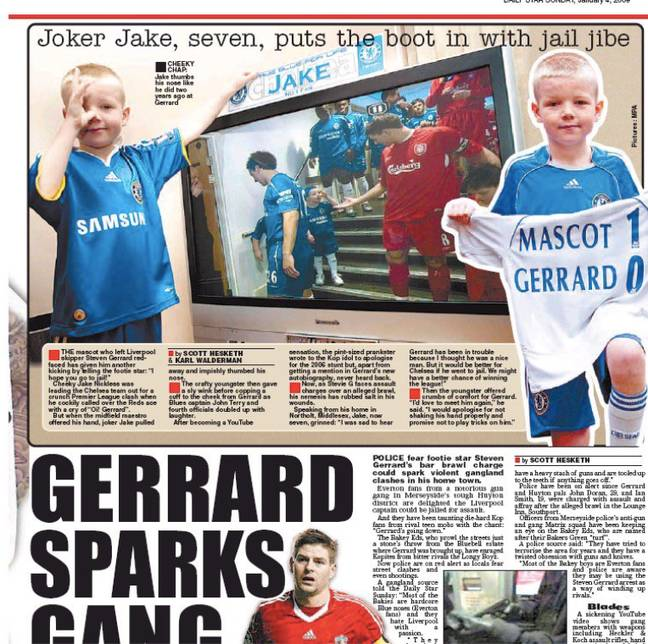 The young mascot made back page news. Image: Daily Star