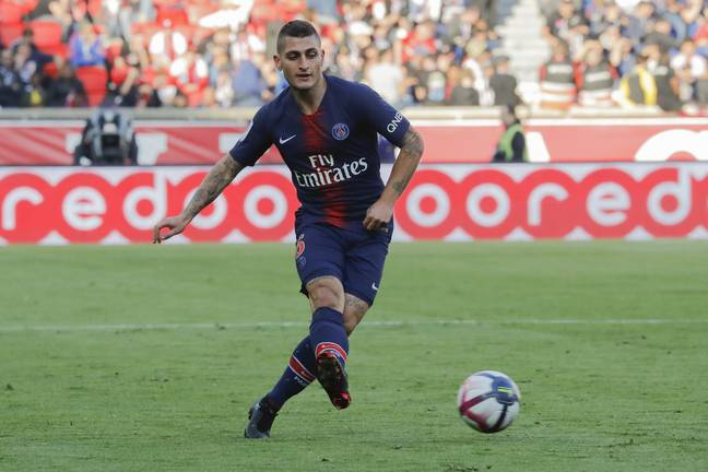 Verratti on the ball for PSG. Image: PA Images