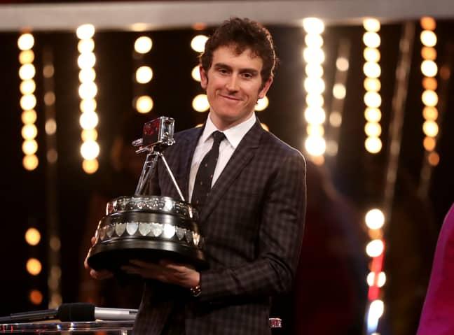 Thomas with his award. Image: PA Images