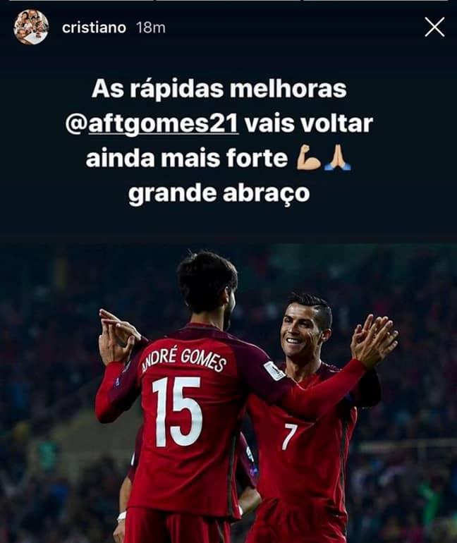 Ronaldo's Message. (Image Credit: @cristiano on Instagram)