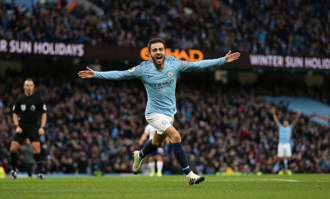 Bernardo Silva celebrates scoring. Image: PA Images