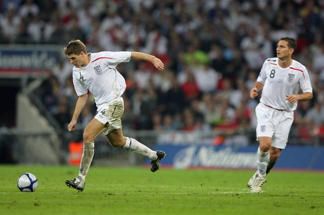 The Gerrard and Lampard partnership never really worked for England. Image: PA Images