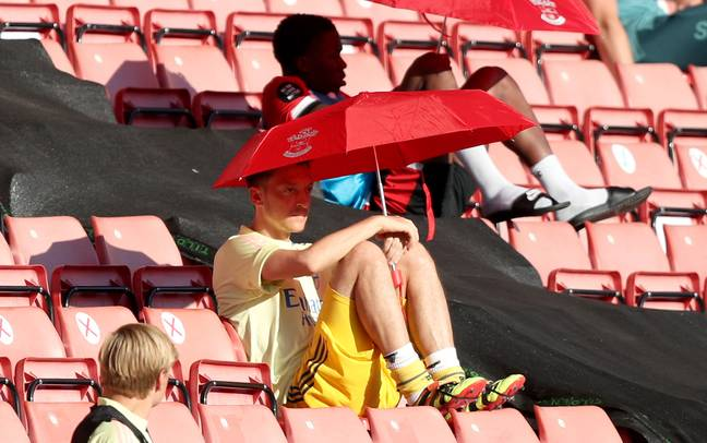 Ozil didn't make an appearance for Arsenal after the return to football last season. Image: PA Images