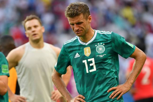 Muller after the full time whistle against South Korea. Image: PA Images