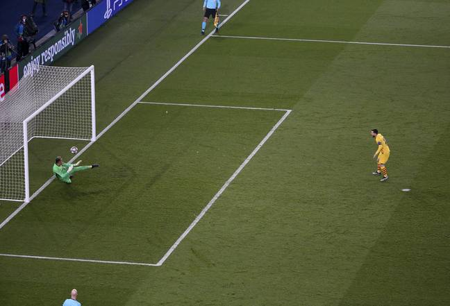 Messi's missed penalty may have stopped Barcelona's momentum in their potential comeback. Image: PA Images