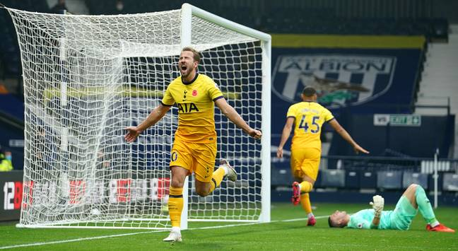 Kane continues to score goals on a regular basis but is yet to turn it into titles. Image: PA Images