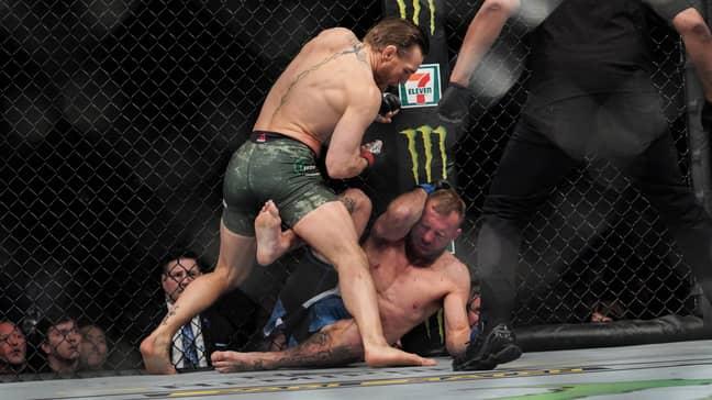 McGregor fells Cerrone. Image: PA Images