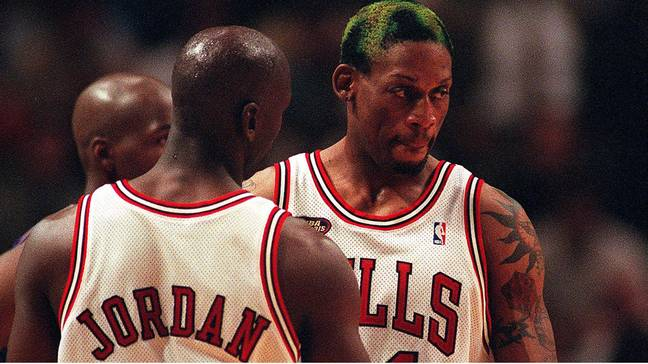 Dennis Rodman while playing for the Chicago Bulls. Credit: PA