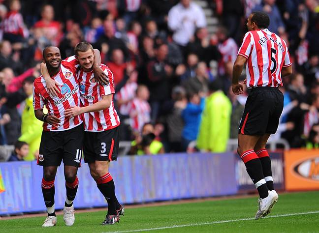 Darren Bent ran off to celebrate one of the most remarkable ever Premier League goals with his team-mates