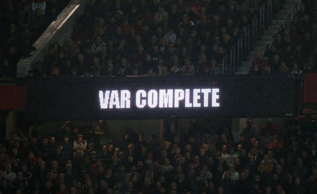 How fans see VAR decisions at Old Trafford. Image: PA Images
