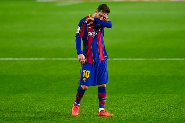 Messi wanted to leave in the summer. Image: PA Images