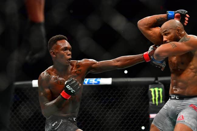 Adesanya took on Romero at UFC 248. Credit: PA