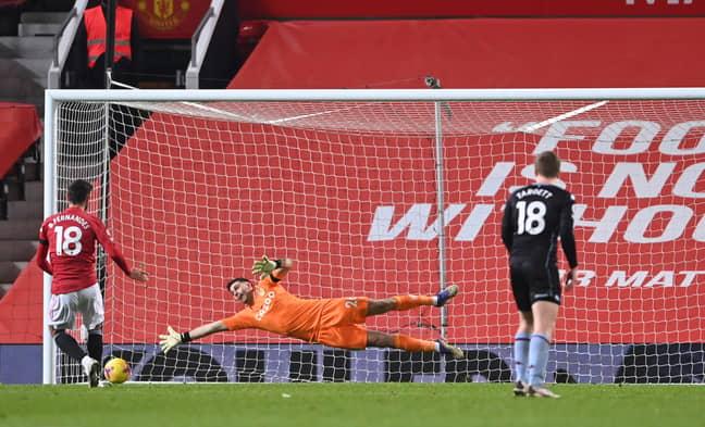Bruno scores against Villa. Image: PA Images