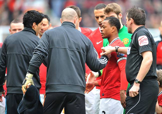Suarez was handed an eight match ban for his incident with Evra. Image: PA Images