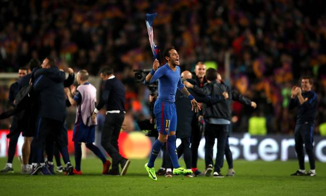 Neymar was key in the famous game in 2017 but was then injured just days later. Image : PA Images