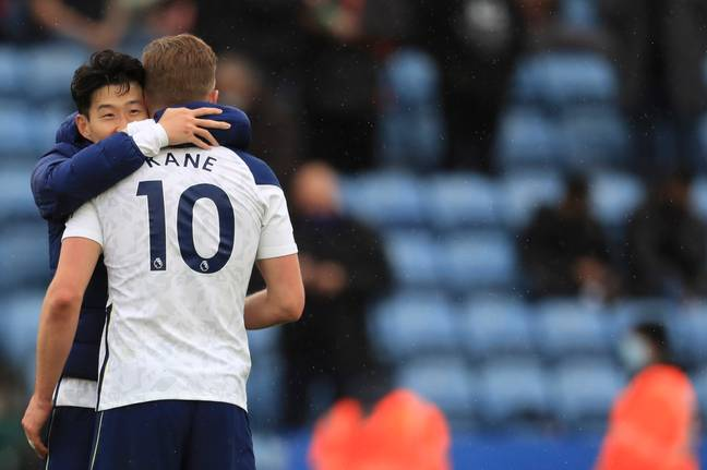 Kane looked like he was saying goodbye on Sunday following Spurs' win over Leicester City. Image: PA Images