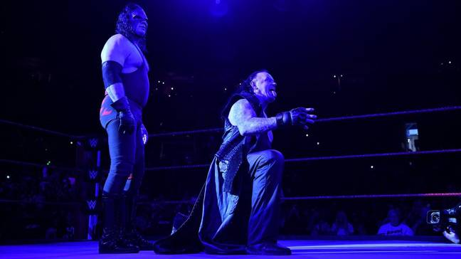 Undertaker and Kane, the Brothers of Destruction, were in action back in October 2018. Image: WWE