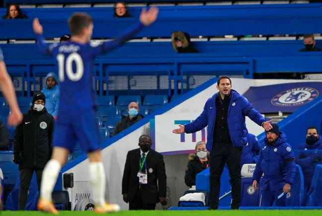 Lampard didn't look happy during the loss to City. Image: PA Images