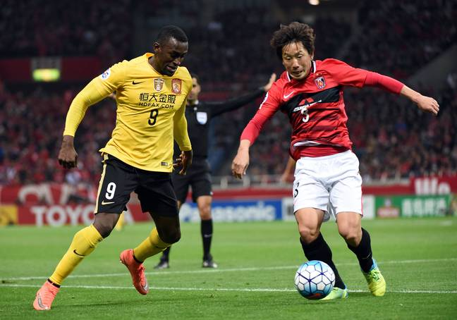 Martinez in action for Guangzhou. Image: PA