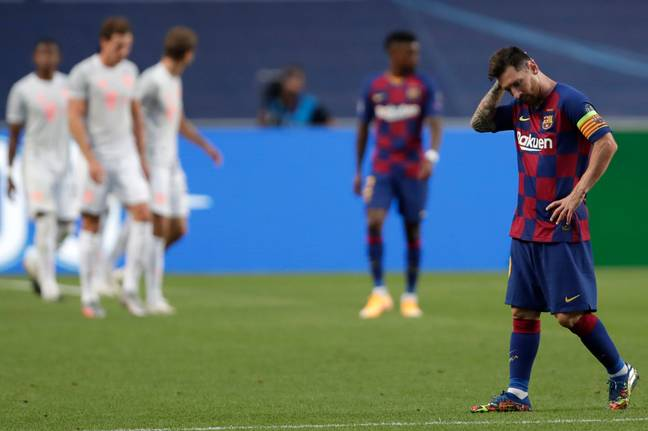 Messi sums up the feeling at Barcelona. Image: PA Images
