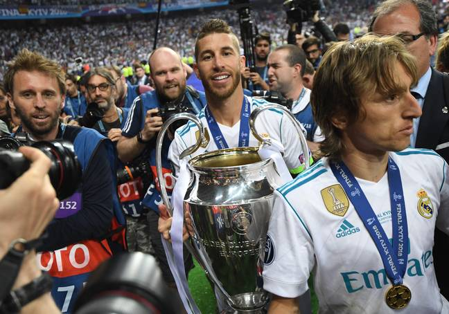 Ramos in the Champions League is synonymous with yellow cards and the trophy. Image: PA Images