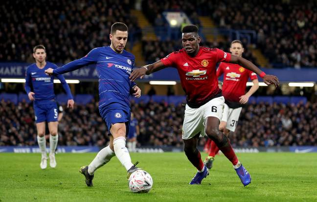 Could Hazard and Pogba swap places in the summer? Image: PA Images