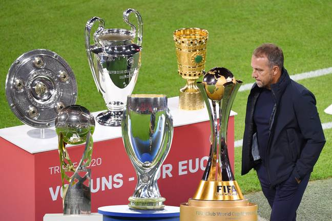 Not a bad trophy collection for Flick already. Image: PA Images