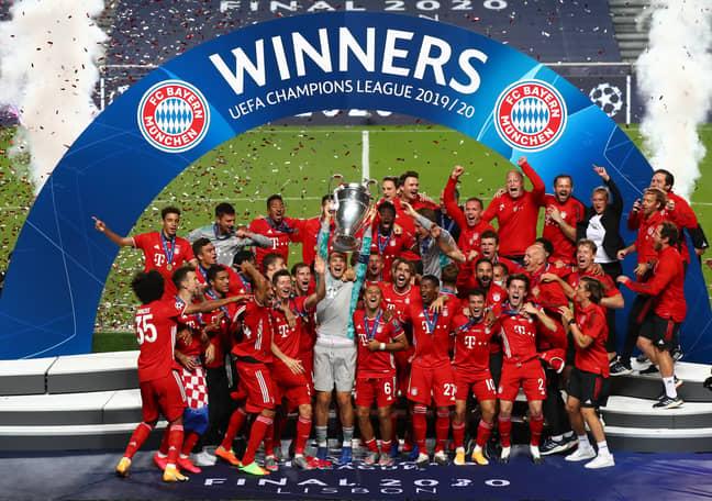 Bayern celebrate winning last season's trophy. Image: PA Images