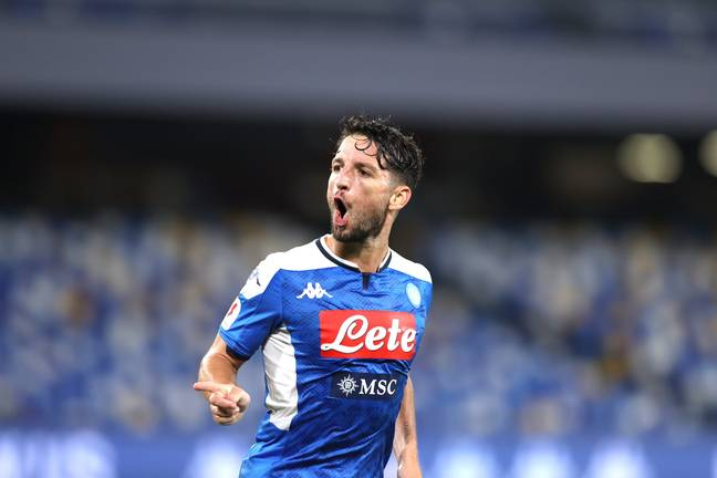 Dries Mertens scored the goal that put Napoli into the Coppa Italia final on Saturday. (Image Credit: PA)