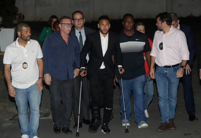 Neymar should currently be playing in the Copa America but injury in a warm up game stopped him. Image: PA Images