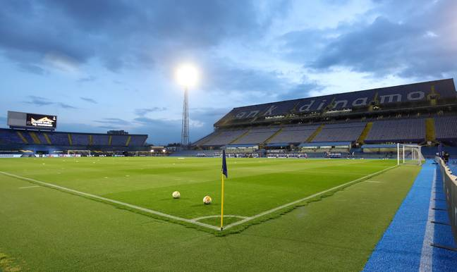 The Stadion Maksimir prior to Dinamo Zagreb vs Tottenham Hotspur in March. (Image Credit: PA)